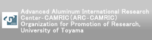 Advanced Aluminum International Research Center-CAMRIC(ARC-CAMRIC) Organization for Promotion of Research, University of Toyama